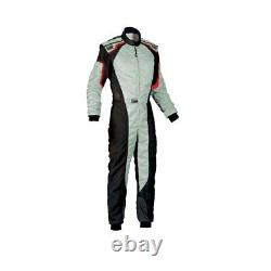 OMP Racing KS-3 Karting Kart Suit gray (CIK FIA Approved) size 50