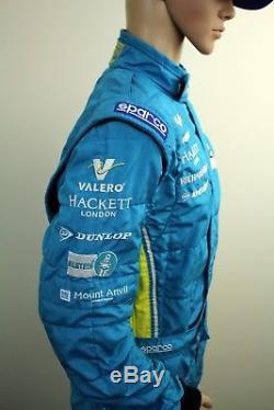 Original Aston Martin Racing VALERO SPARCO FAI Race Suit Size 58