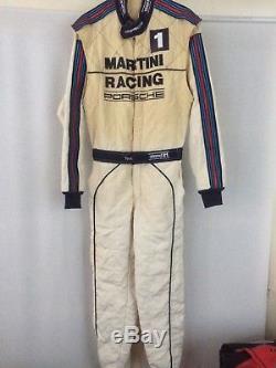 Porsche team issue Martini Porsche racesuit Stand 21 Sparco OMP FIA Weber F1 DTM