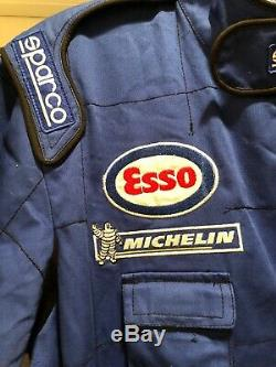 RARE Vintage Sparco Peugeot Sport FIA F1 Mechanic Racing Suit Size L
