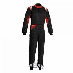 Race Rally Racing Suit Sparco SPRINT (FIA SFI Approved) black red size 52