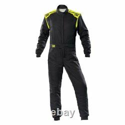Racing Race Rally Suit OMP Racing FIRST-S (FIA Approved) black yellow size 52