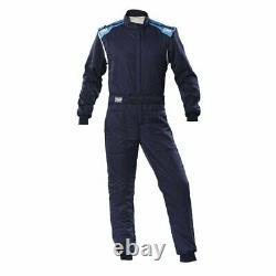 Racing Race Rally Suit OMP Racing FIRST-S (FIA Approved) blue cyan size 48