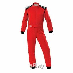 Racing Race Rally Suit OMP Racing FIRST-S (FIA Approved) red size 56