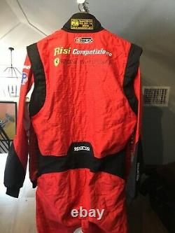 Risi Ferrari Race Used/worn, Sparco Drivers Suit, The Art Of Racing In The Rain