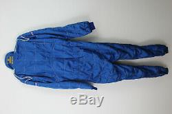 SPARCO Blue Racing Suit Size 60 FIA Approved