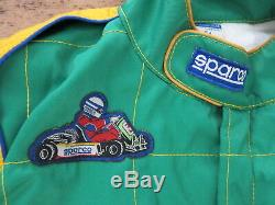 SPARCO Bright Green MAD DOG RACING TEAM SUIT Auto Indy Car Fire Jacket Sz Men 54