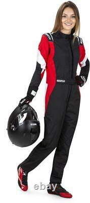 SPARCO COMPETITION PRO LADY FIA SFI Racing Suit Rally 2021 NEW Female black red
