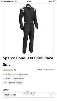 SPARCO FIA RACE SUIT ADULT SiZE 58