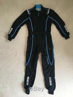 SPARCO GROOVE KS-3 Kart Suit Black/LightBlue CIK FIA Size XS Perfect Confition