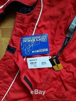 SPARCO Groove KS-3 Kart Suit Kartsport Overall Rot Herren Gr. L