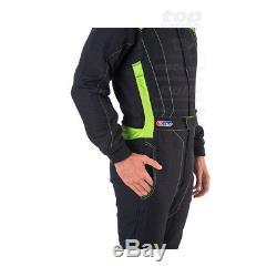 SPARCO VICTORY RS-4 black/green Race Suit (FIA homologation) size 48 NEW