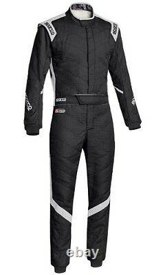SPARCO VICTORY RS-7 RACE SUIT SIZE 52 black grey FIA 8856-2000 RALLY FIA