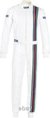 SPARCO VINTAGE FIA Racing Suit Rally Martini RACE white