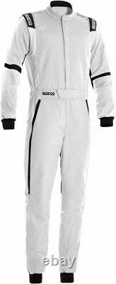 SPARCO X-LIGHT FIA Racing Suit white X-Cool breathable Rally 48-66 XLIGHT