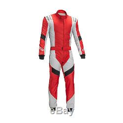 SPARCO X-LIGHT RS-7 Race Suit red/silver (with FIA homologation) (52)