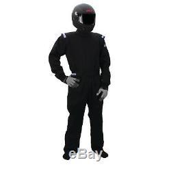 Sparco 001051D4XLNR Racing Suit One Piece Single Layer, Black, Size XL