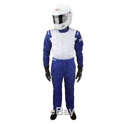 Sparco 001056JT6XLAZBI Jade Top Racing Suit 3-Layer, Blue, Size XXXL