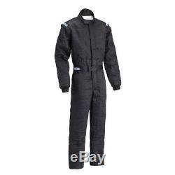 Sparco 001058J3LNR Jade 2 SFI-5 One-Piece Racing Race Suit, Black, Size Large