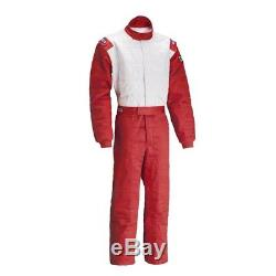 Sparco 001058JT1SNRBI Jade 2 Top SFI 5 Rated Racing Suit, Red, Size S