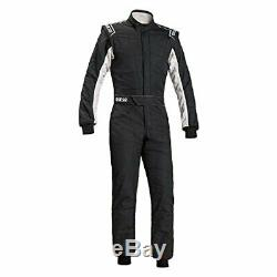 Sparco 00109148NRBI Sprint RS-2.1 Racing Suit Black/White SFI 3.2A/5 Size 48