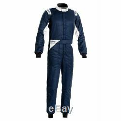 Sparco 00109256BMBI Driving Racing Suit Sprint Navy / White Large NEW