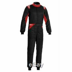 Sparco 00109258NRRS Driving Racing Suit Sprint Black / Red Large / X-Large NEW