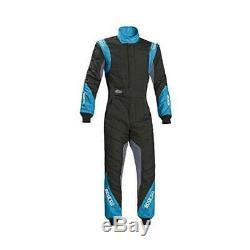 Sparco 001127260NRGC RS-8.1 Racing Suits, Black/Celeste, 60