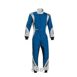 Sparco 001127264BIAG RS-8.1 Racing Suits, White/Blue, 64