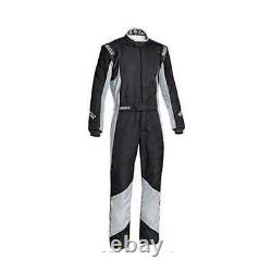 Sparco 001127564ANRG Grip RS-4 Racing Suits, Blue/Grey, 64