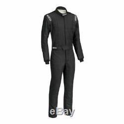 Sparco 0011282B52NRNR Conquest Driving Racing Suit Men's Medium (52) Black NEW