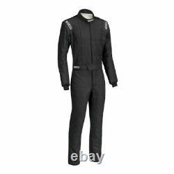 Sparco 0011282B62NRNR Conquest Driving Racing Suit Men's XL/2XL Black NEW