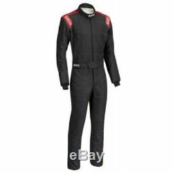 Sparco 0011282B62NRRS Conquest Driving Racing Suit Men's X Large/2XL Black/Red