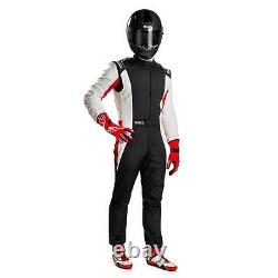 Sparco 001128SFB58NRBR Competition Racing Suit, Black, Size 58