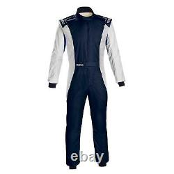 Sparco 001128SFB62BINR Competition Racing Suit, White, Size 62