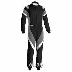 Sparco 001135H56NGBO Driving Racing Suit Victory Black /Gray Large NEW