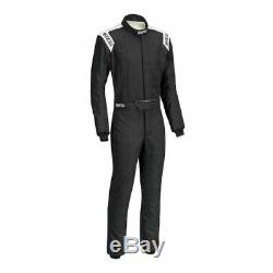 Sparco 00116650NRBI Driving Racing Suit Conquest Blk/White Small NEW