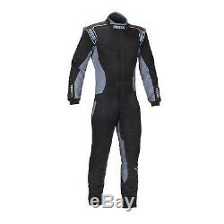 Sparco 002328NGRC3M Adult Karting Racing Suits, Black/Grey, Celeste
