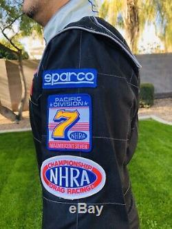 Sparco CIK-FIA Kart Rally Race Racing Suit Black Mens Sz Large