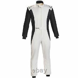 Sparco Competition FIA Approved Race Suit White / Black Size 60
