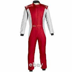 Sparco Competition Plus FIA Approved Race Rally Suit Red / White Size 58
