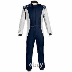 Sparco Competition Plus Race Suit Navy Blue / White Size 50