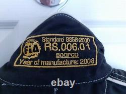 Sparco Conquest R506 2 Layer Nomex Race Suit Never Used Size 52 Black Fia 8856-2