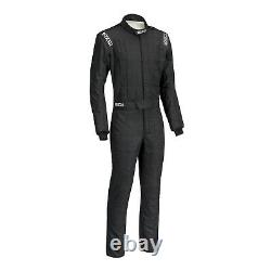 Sparco Conquest SFI5 Racing Suit, Black, Euro Size 64