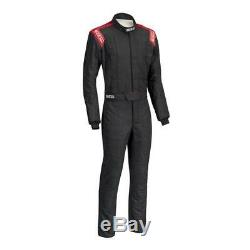 Sparco Conquest SFI5 Racing Suit, Black/Red 54