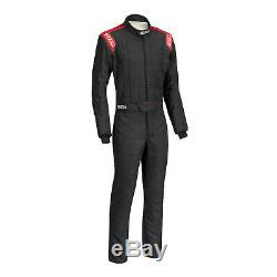 Sparco Conquest SFI5 Racing Suit, Black/Red, Euro Size 66