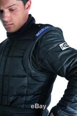 Sparco Drag Racing Suit Jacket X-15 Black SFI Fire Resistant Nomex + Straps SALE