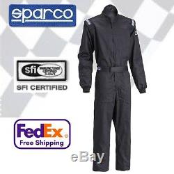 Sparco Driver One-Piece Race Suit Black All Sizes SFI 3.2A/1