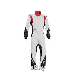 Sparco EAGLE RS-8.1 Race Suit White/Red (FIA homologation) 54