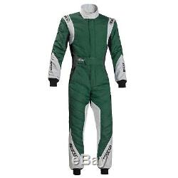 Sparco Eagle RS-8.1 FIA Approved Race / Rally Suit Green / Grey / Black Size 48